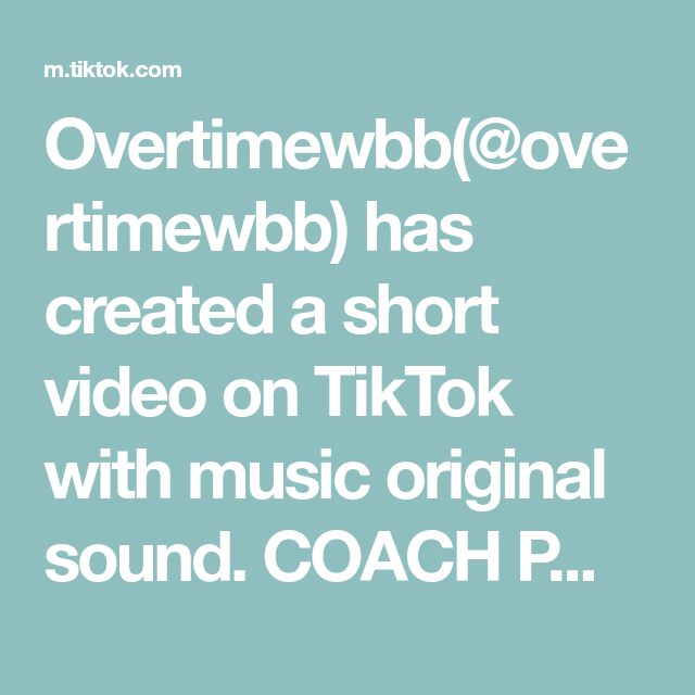 Overtimewbb Overtimewbb Has Created A Short Video On Tiktok With Music Original Sound Coach Put Me In Homemade Ranch Dressing Homemade Ranch Burn It Down