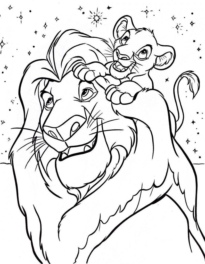 Lion King Disney Coloring Pages Lion Coloring Pages Disney