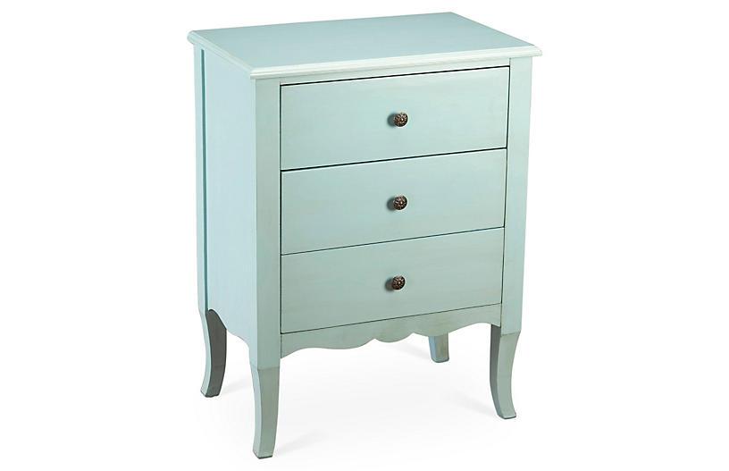 Hope Nightstand Light Blue Bedroom Night Stands Blue Furniture Blue Nightstands