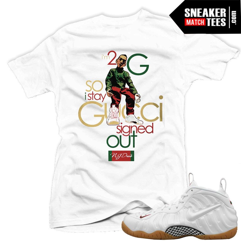 big sale 2e3b3 b3ba3 Buy White Gucci Foams Shirt   Nike Gucci Foams