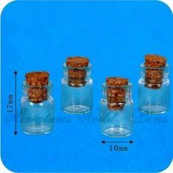 4 Bocaux en verre - DM158 1/12ème #maisondepoupées #dollhouse #bocaux #jars #meuble #furniture #miniatures #miniature #verre #glass