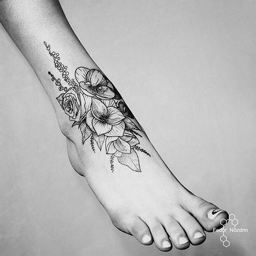 Татуировки на ступнях лучшее место для первого шага. 167 ...