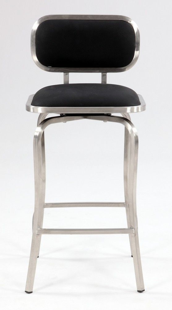 Chintaly Imports Modern Swivel Counter Stool in Black 179