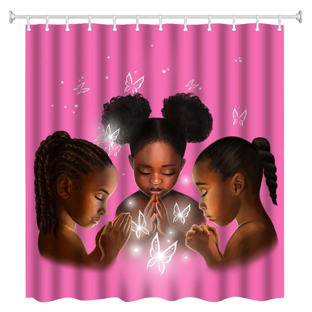 Praying Girls Shower Curtain Girls Shower Curtain Kids Shower
