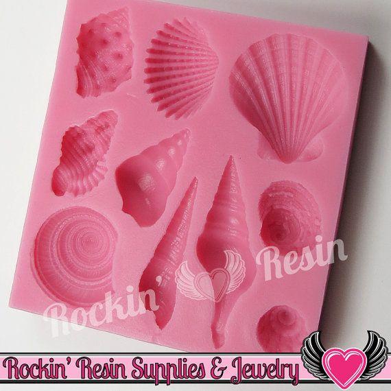 Ocean Seashells Silicone Mold Food Grade Flexible Sea Shell Fondant