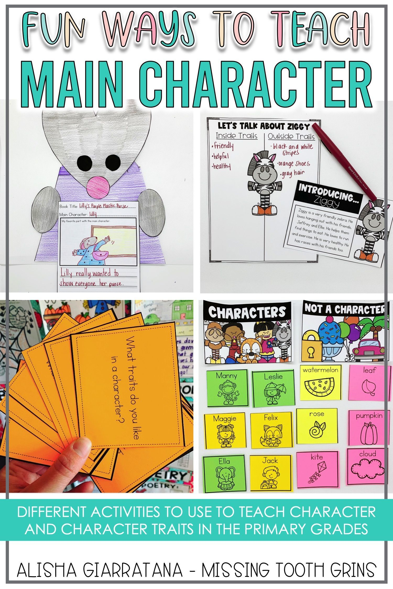 Main Character And Character Traits Are Fun To Teach In Kindergarten First Grade And Second Gra Character Activities Teaching Character Character And Setting [ 2250 x 1500 Pixel ]