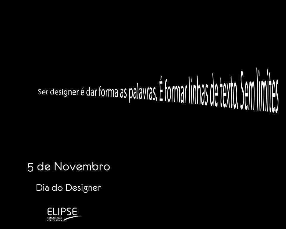05 de Novembro - Dia do Design - Parabéns!