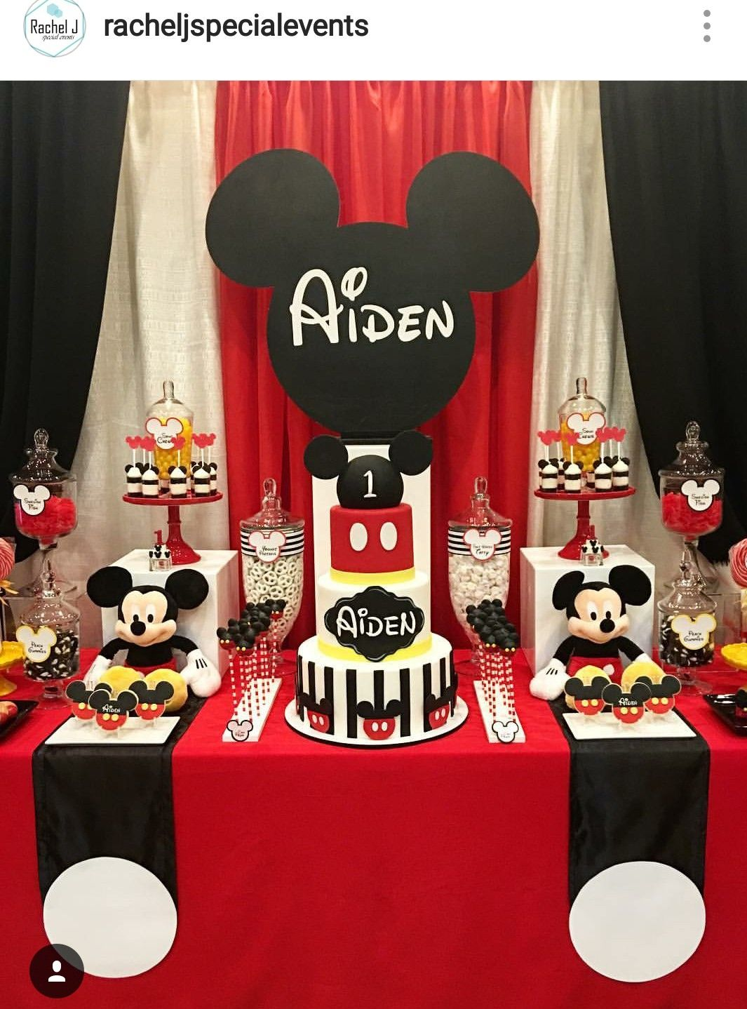Mickey Mouse Theme Birthday Party Dessert Table And Decor Decoracion Cumpleanos Mickey Mouse Fiestas Mickey Mouse Decoracion Mickey Cumpleanos Decoracion