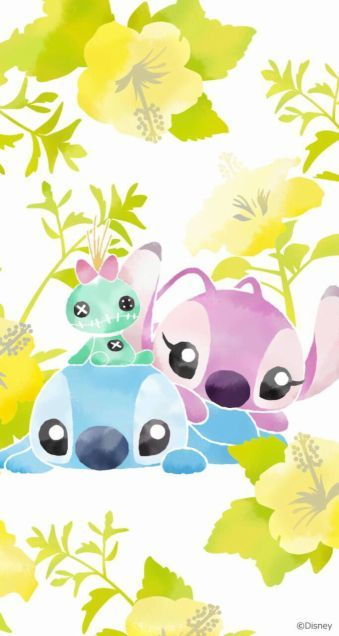 lilo stitch stich scrump angel disney art lilo stitch