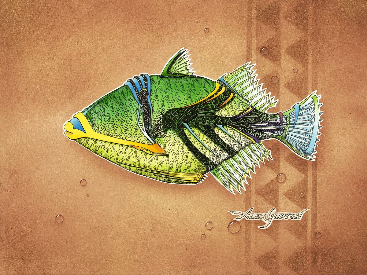 Green fish prosperity the artwork of alex gupton art green fish prosperity the artwork of alex gupton jeuxipadfo Images