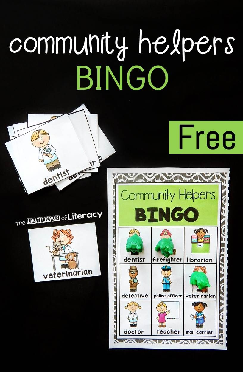 Community Helpers Bingo | Community helpers, Bingo games and Activities