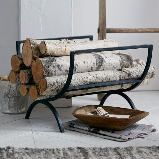 Fireplace logs and Log holder