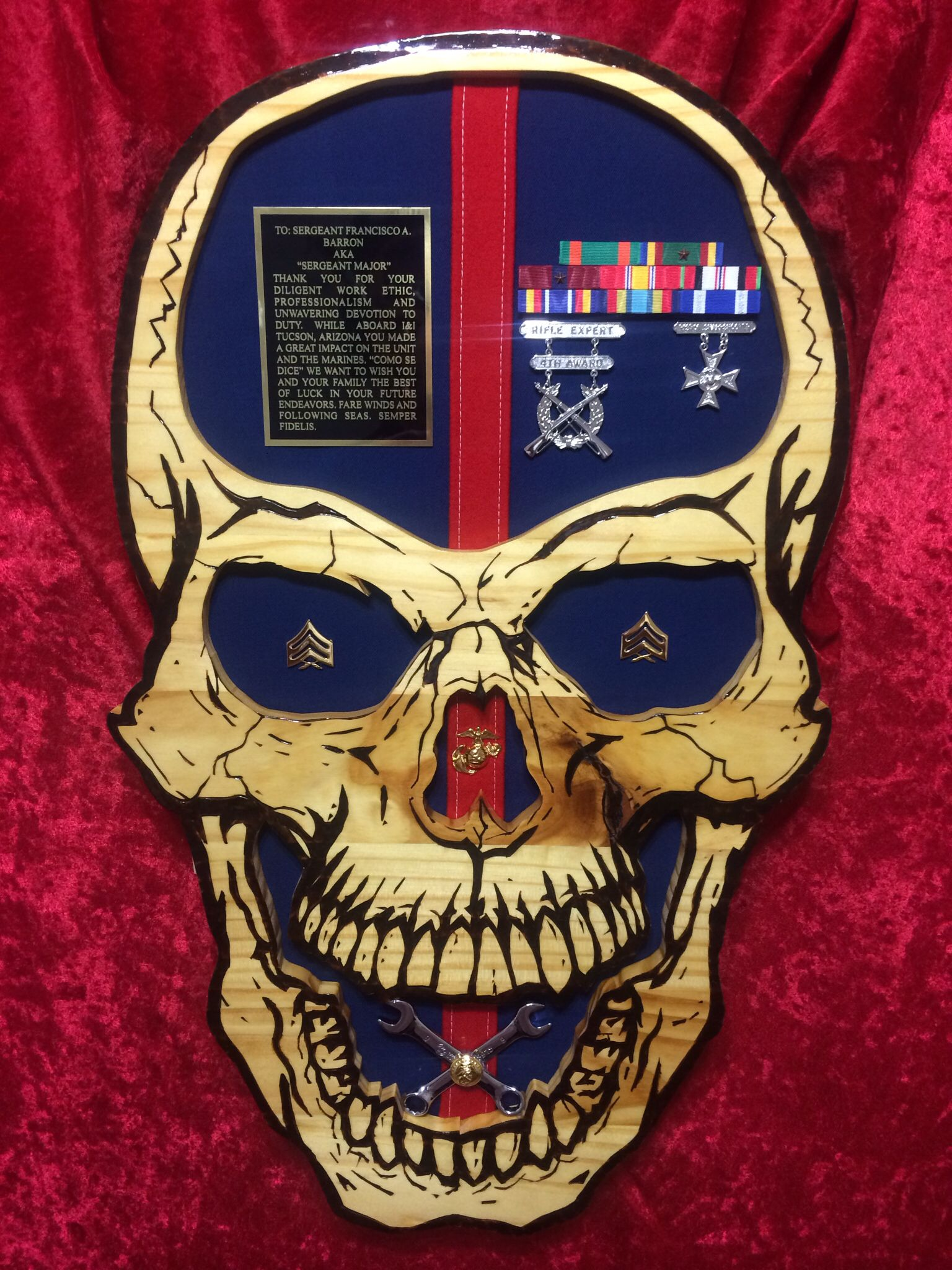 Military skull by luna custom wood work. Question on ...