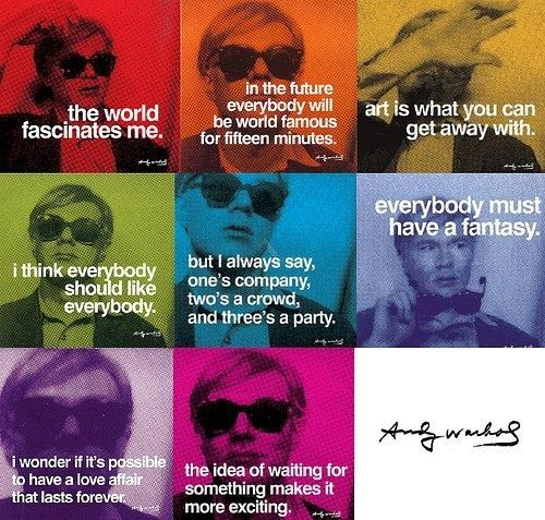Andy Warhol Quotes Classy Art Quotes Andy Warhol  Google Search  Posters  Pinterest