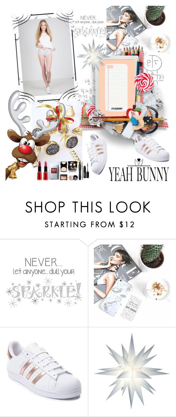 """YEAH BUNNY 27"" by irinavsl ❤ liked on Polyvore featuring Wall Pops!, Yeah Bunny and adidas"