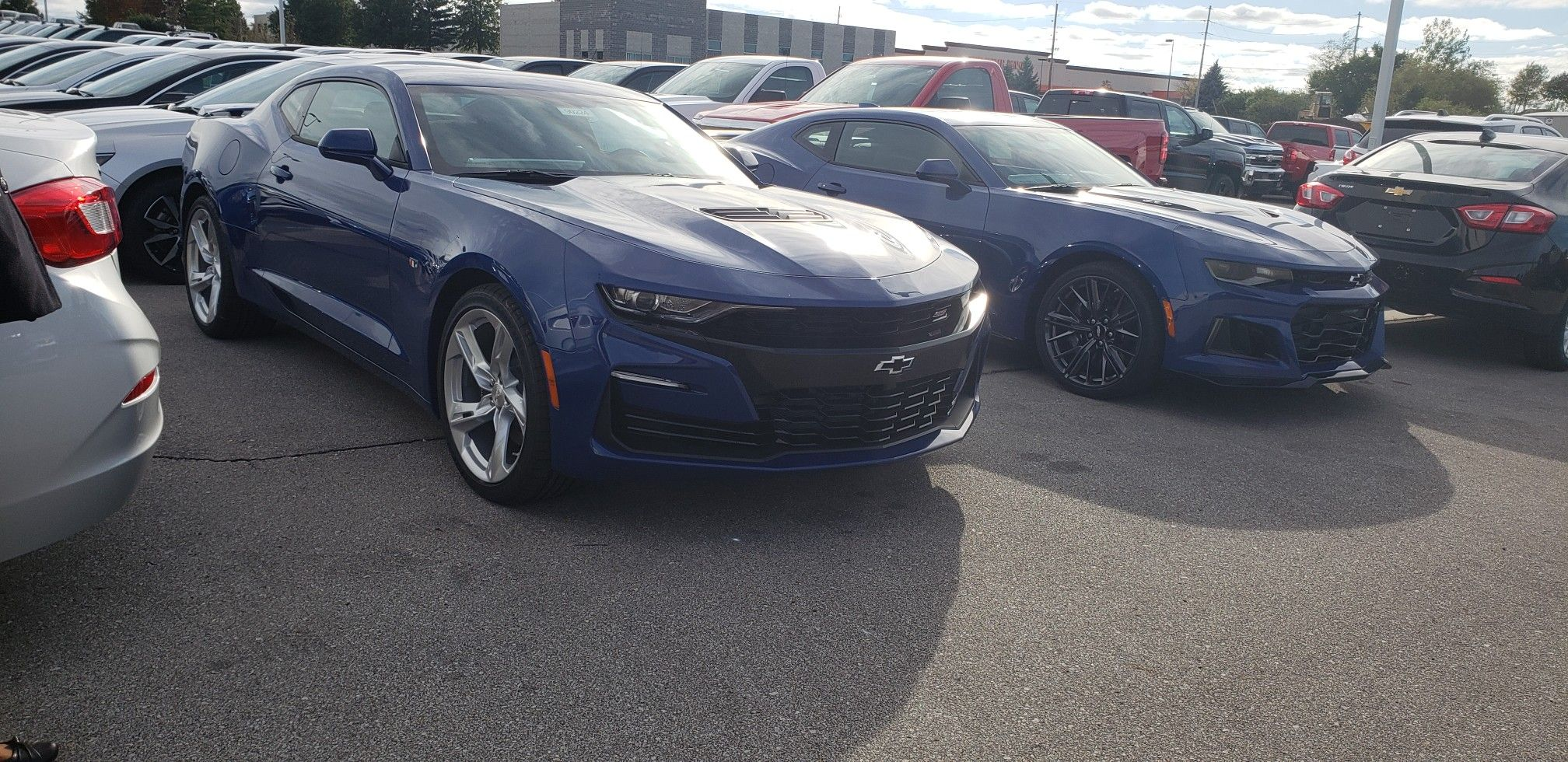Riverside Blue Metallic 2019 Chevrolet Camaro Ss Zl1 Transporter
