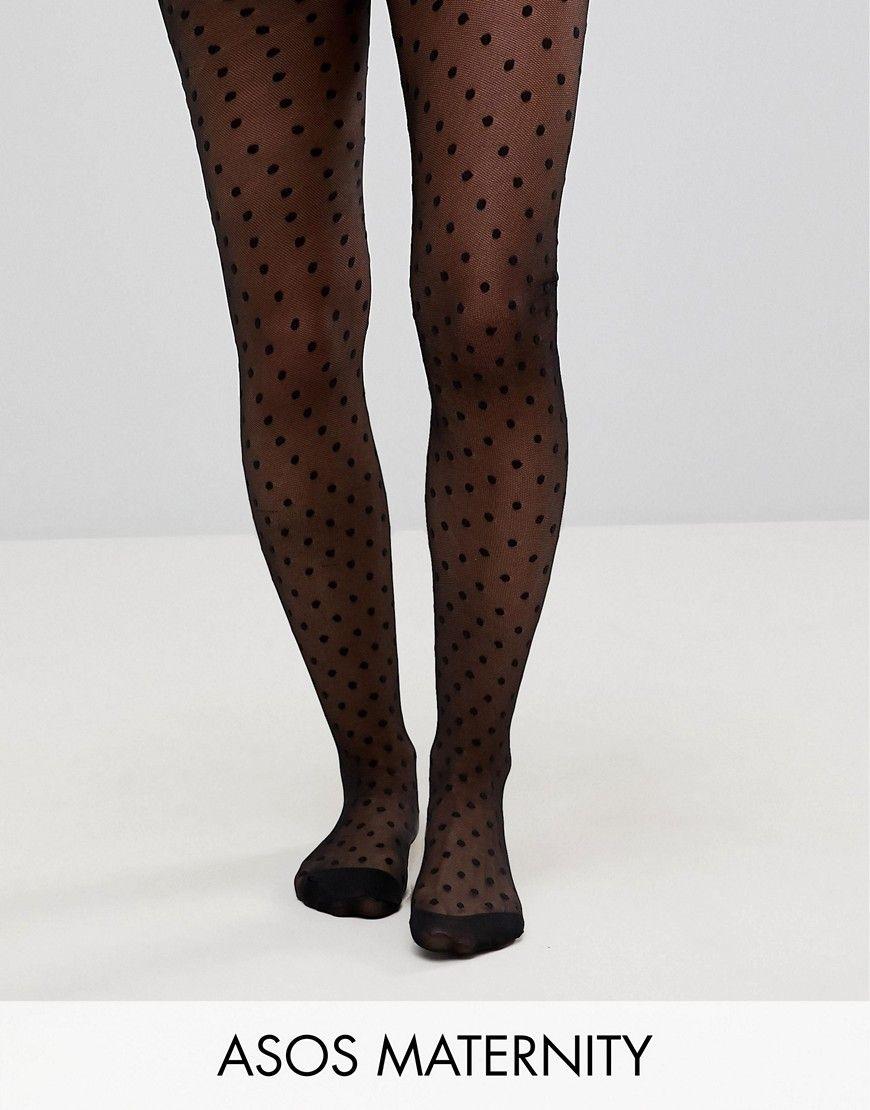 DESIGN Maternity medium polka dot tights