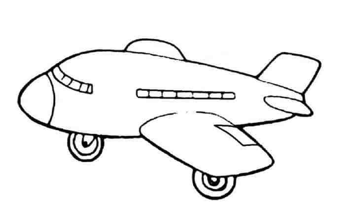 Gambar Mewarnai Pesawat Terbang Gambar Warna Dan Anak