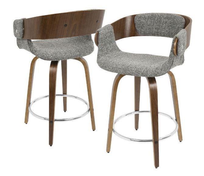 Counter Height Bar Stool Wood Swivel Mid Century Modern Kitchen Dining 23 Chair Lumisource Mi Wood Patio Chairs Modern Counter Stools Mid Century Bar Stools