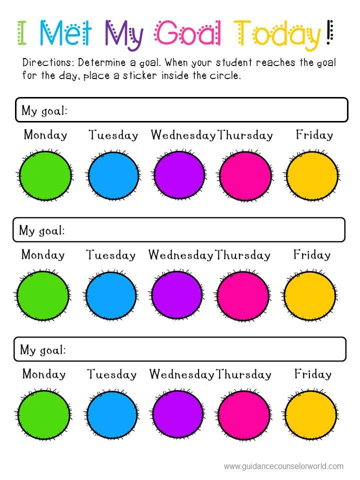 Use This Colorful Behavior ContractIntervention To Set Goals And