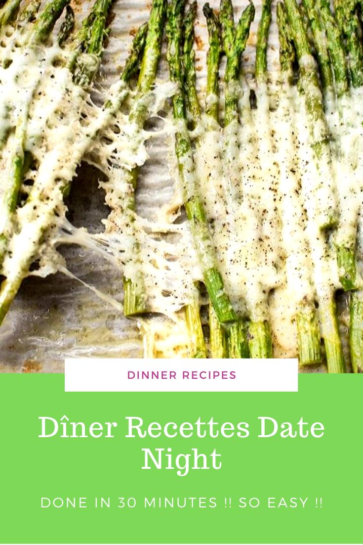 Dîner Recettes Date Night Asperges rôties au fromage et