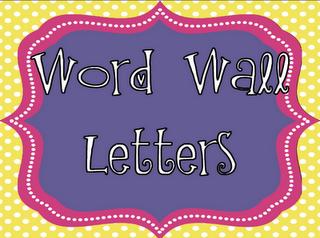 free word wall headersletters