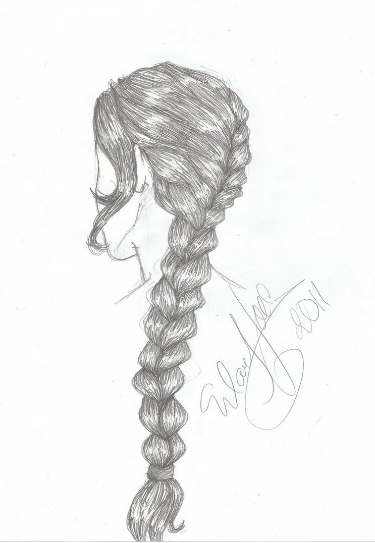 Trends For > How To Draw A Braid | Katelyn | Drawings ...