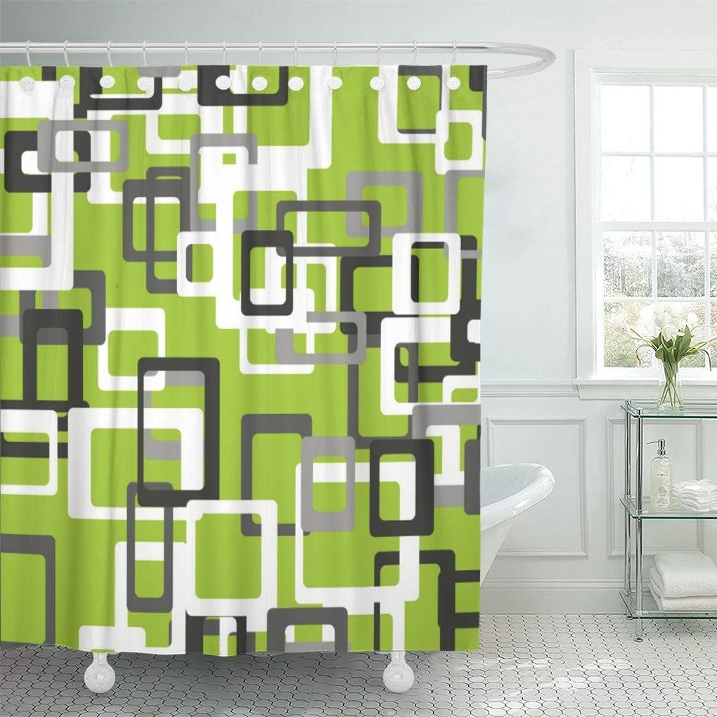Yolo Shower Curtain Fabric Bathroom Decor Set with Hooks 4 Sizes