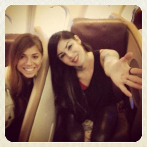 And with this blurry photo.. @Christina Childress Perri and I bid you farewell! Next stop…City of Angels!  [January 29th, 2014]