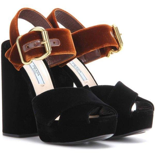 Prada Velvet Platform Sandals ($840