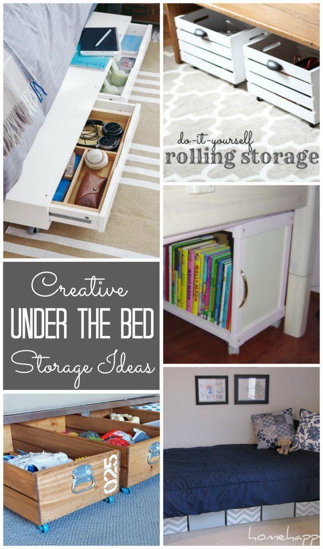 Underbed Storage Ideas Under bed storage, Bed storage