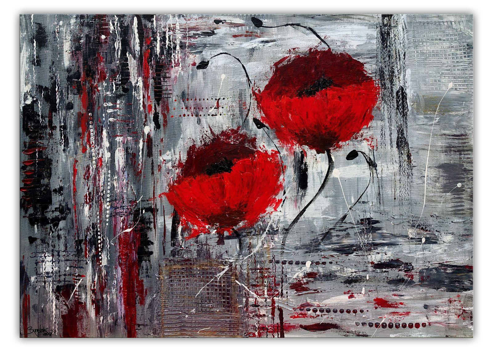 Bluten Blumen Malerei Acryl Gemalde Unikat Acrylbilder Abstrakt Malerei Acrylmalerei Abstrakt