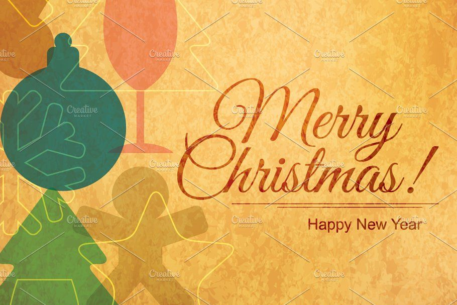 Photo of Christmas & New Year greeting cards , #SPONSORED, #Vector#color#CMYK#Christmas #…
