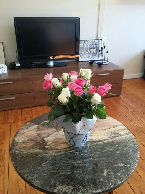 Flowers on My marble coffee table.