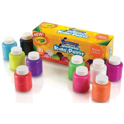 Washable Paint Bottles Crayola Neon Paint 10 Colors Neon