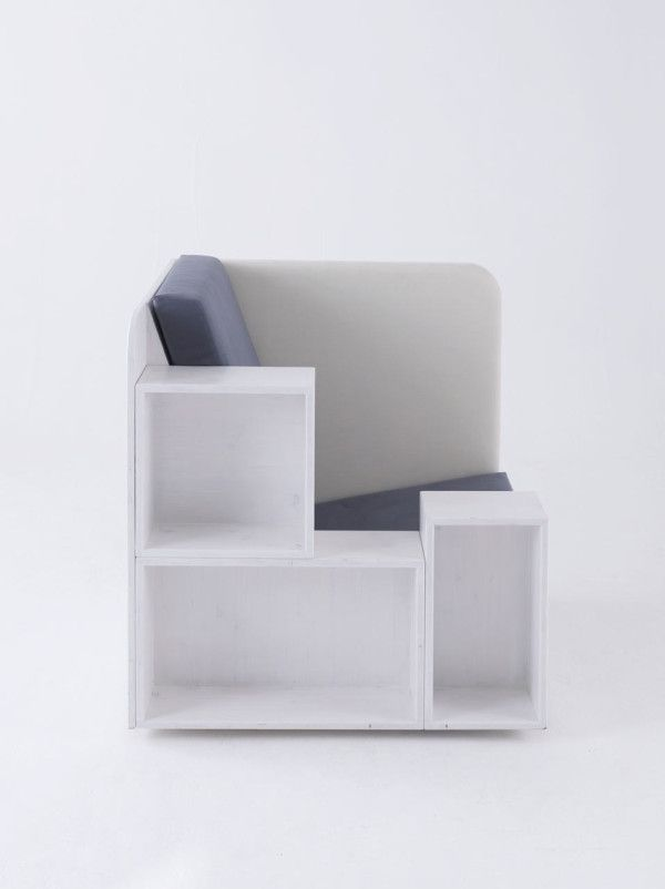 Open Book Chair By TILT Open Book Storage And Organizations - Bookchair combined with bookshelf