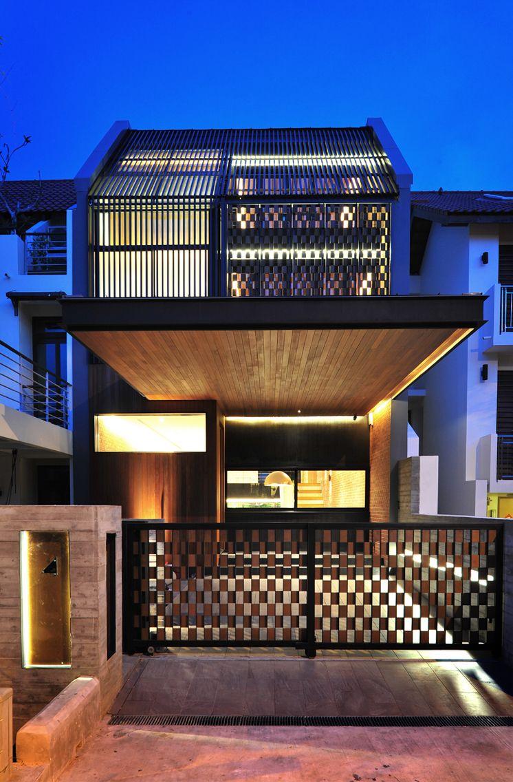 Chin Terrace Singapore Small House Big Space Laud Arsitektur Desain Desain Exterior Rumah