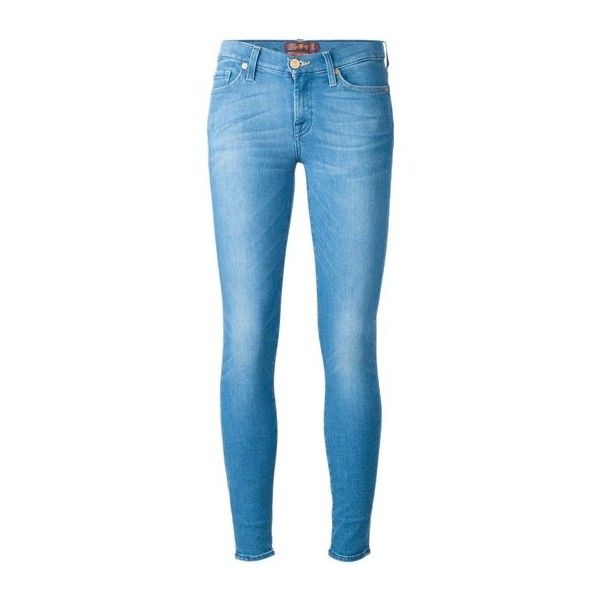 SEVEN JEANS 'Illusion' Skinny Jeans (4,550 MXN) ❤ liked on Polyvore featuring jeans, pants, bottoms, spodnie, grey, cut skinny jeans, grey skinny jeans, button-fly jeans, 5 pocket jeans and zipper jeans