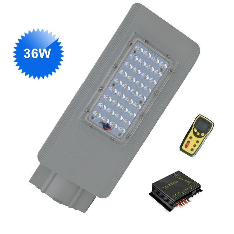 36w Led Street Lights 12v Dc With Intelligent Wireless Dimming Solar Controller Ip65 For Solar Energy Street Lighting Sys Led Street Lights Street Light Lights