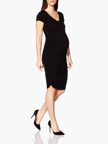 c803d943a9540 Stork & Babe - Short Sleeve Maternity Dress available at #ThymeMaternity