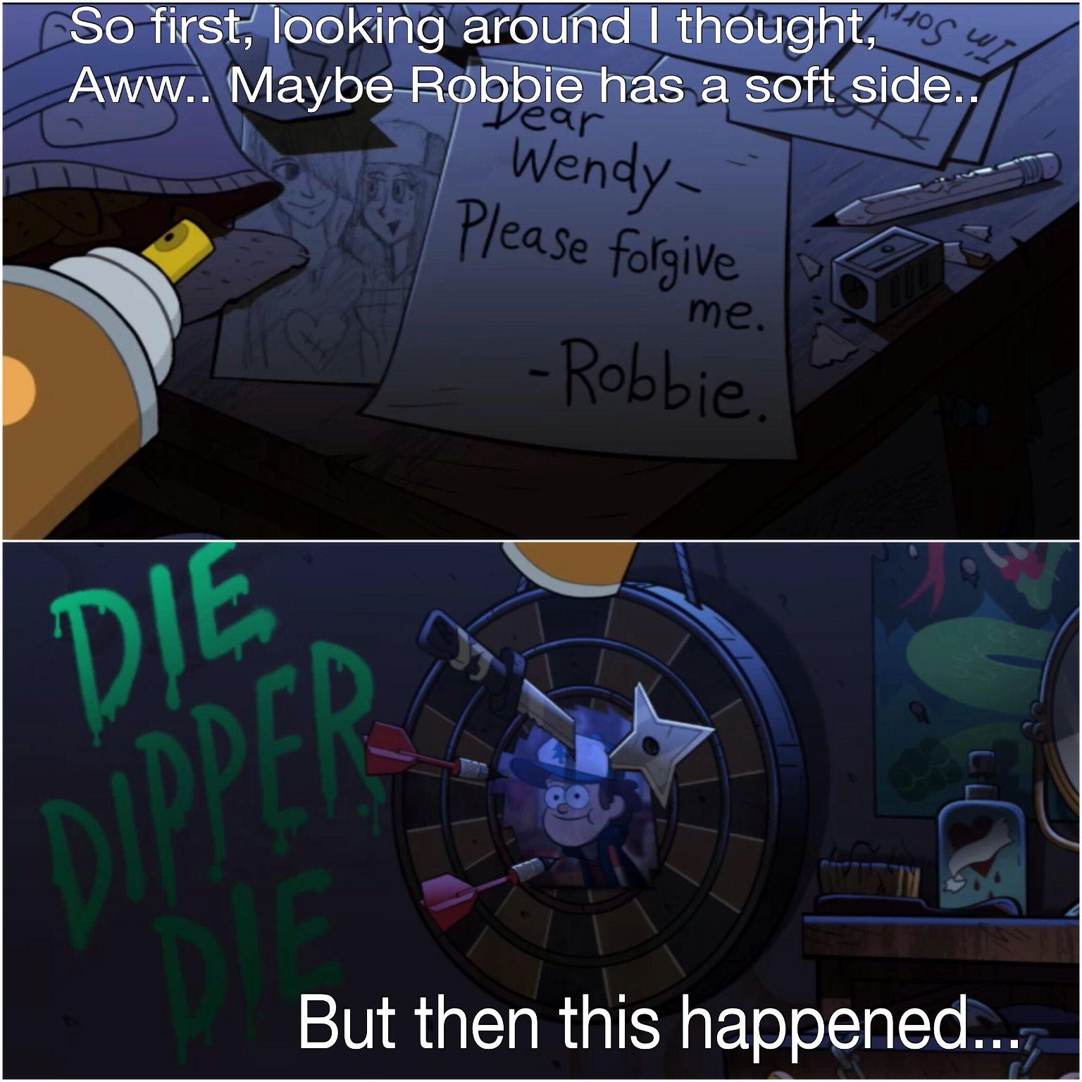 Hahahaha........ Gravity Falls .>>> he really does draw ...