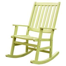 Indoor Outdoor Shorea Wood Rocking Chair In Limeade Product Chairconstruction Material Shorea Wo Patio Rocking Chairs Outdoor Rocking Chairs Rocking Chair