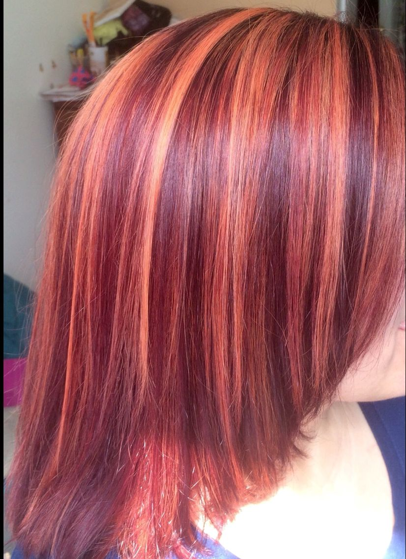 Burgundy With Copper Highlights For The Girls Pinterest Hair