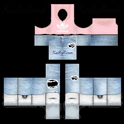 Pink Adidas Crop w/ Jeans ROBLOX