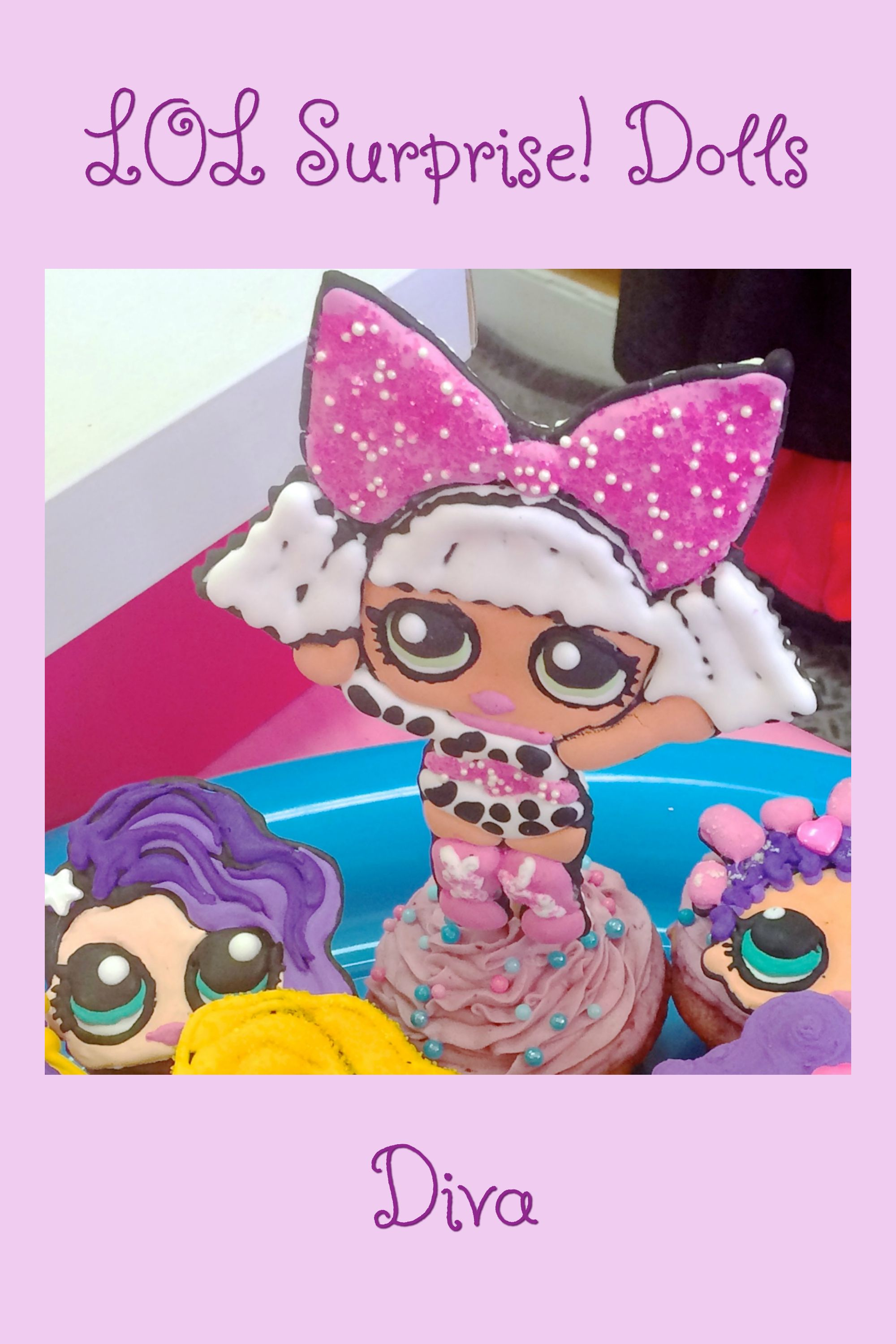 Lol surprise dolls diva made with royal icing lol surprise doll 7 year birthday party - Diva lol surprise ...