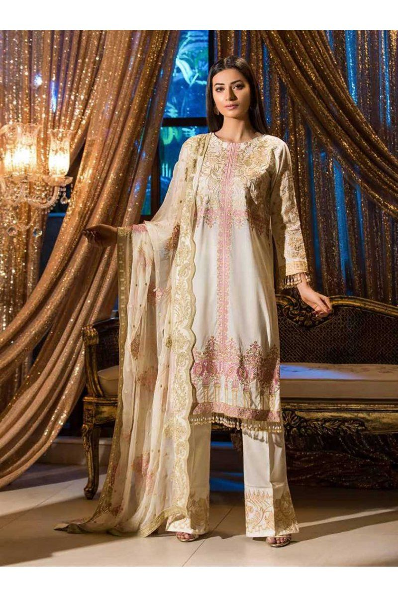 26d0c43e6e Johra Gold Swiss Voile Embroidered JH-05B https://www.meemfashions.