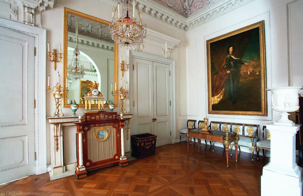 Grand palais intérieur pavlovsk petit bureau de paul ier dans