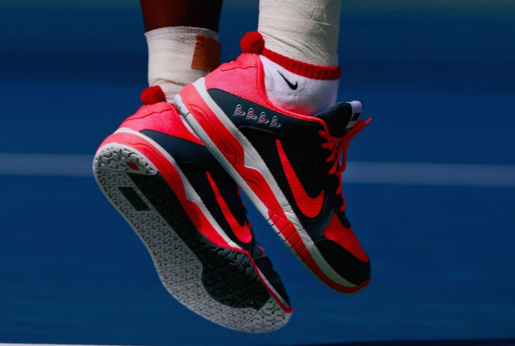 various colors eb394 79dd0 ... Courtballistec nike air max cage us open US Open 2013 Serena Williams  wearing Nike Lunar Mirabella PE ...
