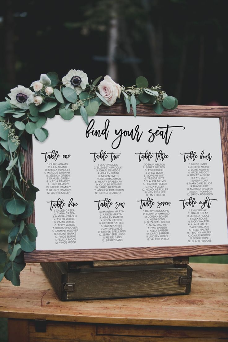 Romantic find your seat seating chart for  whimsical wedding by unica forma weddinginvitations also day of paper invitations pinterest rh