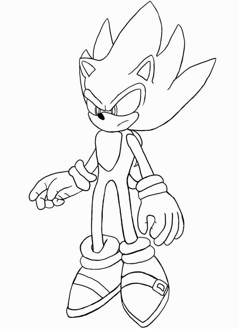 Super Sonic Coloring Pages Desenhos Desenhos Para Colorir